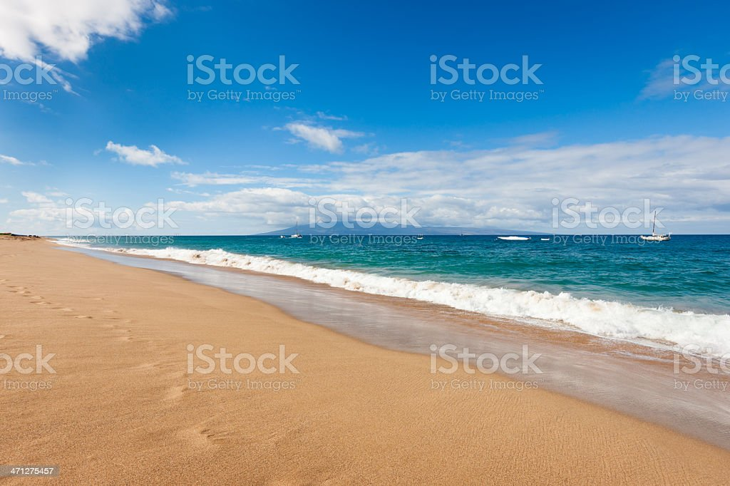 Dream Beach Maui Hawaii royalty-free stock photo