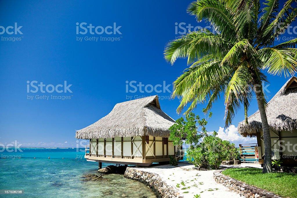 Dream Beach Moorea Island Tourist Resort royalty-free stock photo