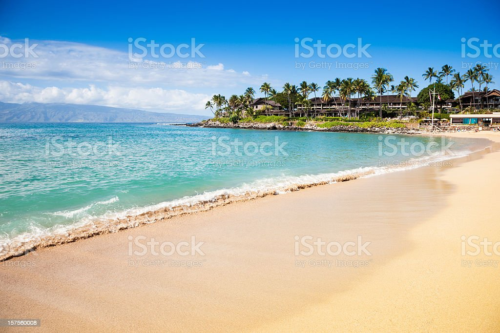 Dream Beach Napili Bay Maui Hawaii stock photo
