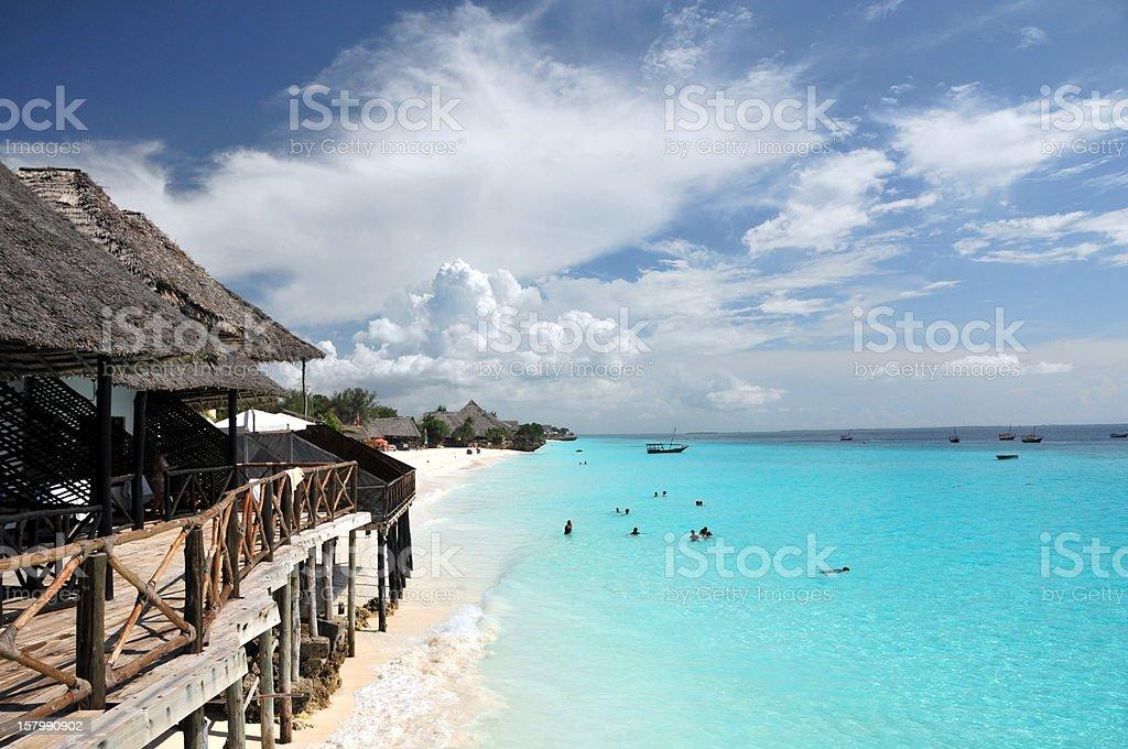 Dream Beach on Zanzibar stock photo