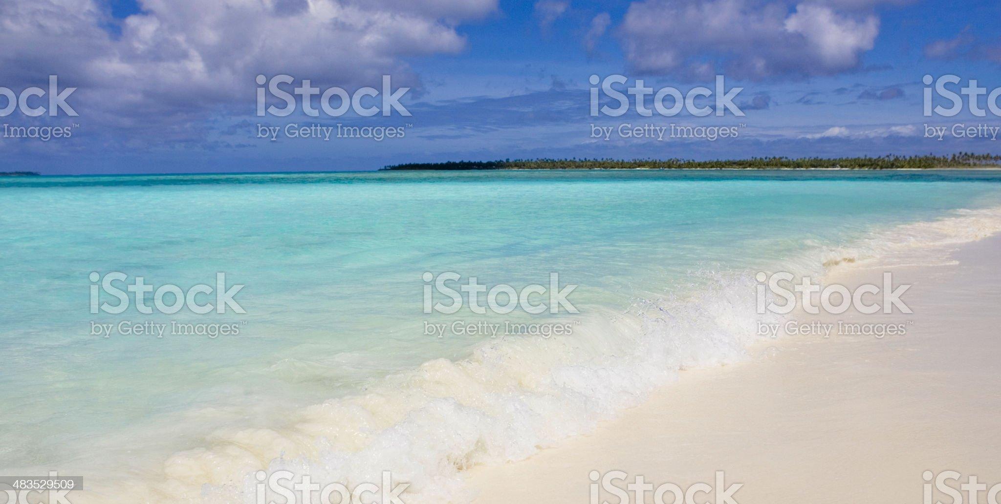 Dream Beach Panorama royalty-free stock photo
