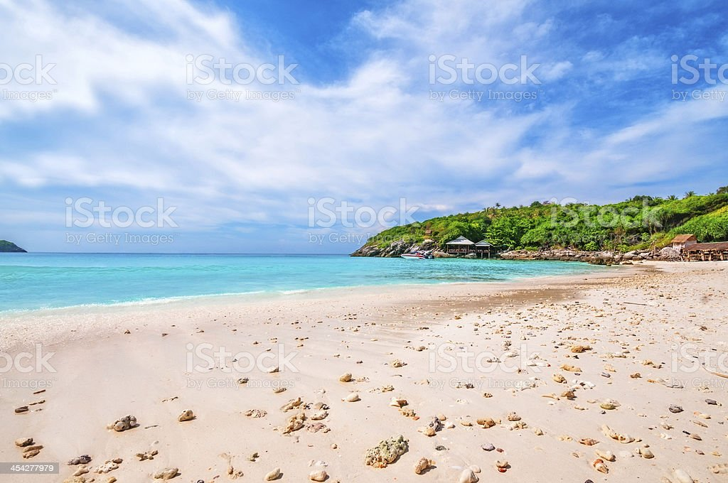 Dream Beach with White Sand stock photo