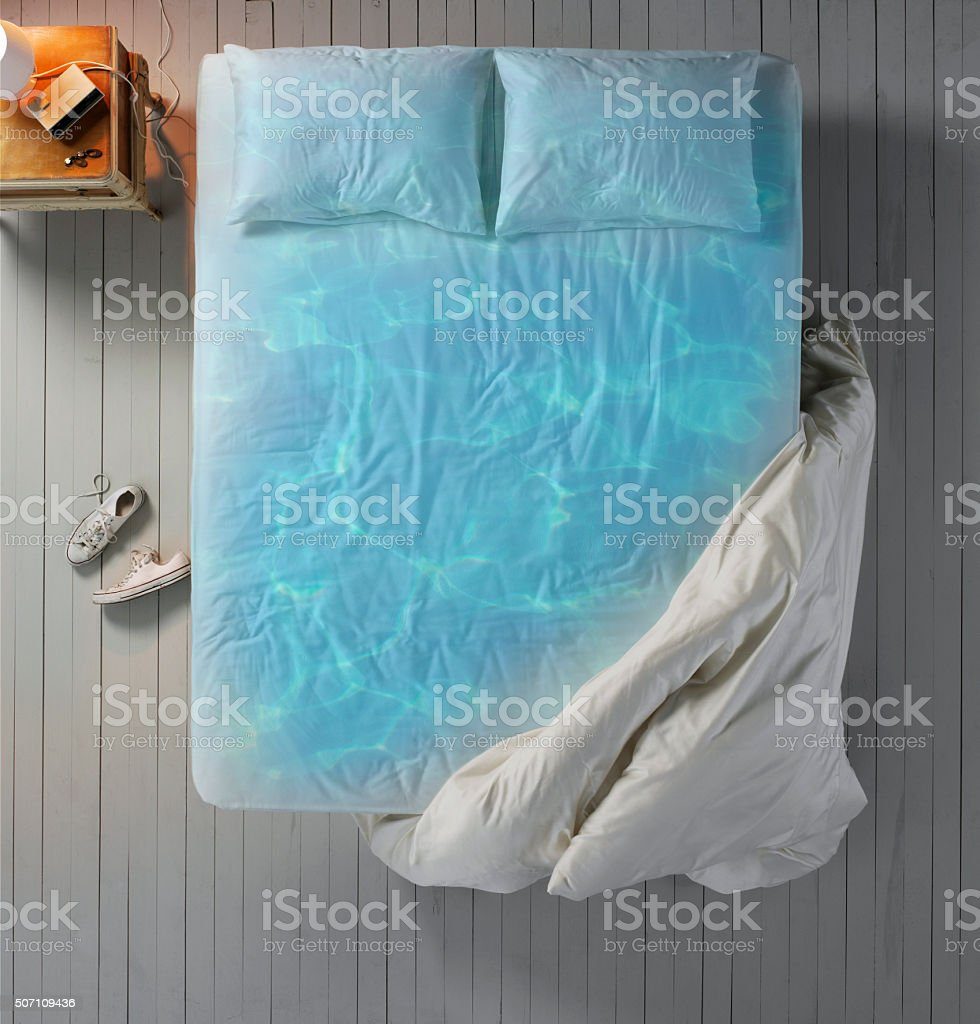 Dream Bed stock photo