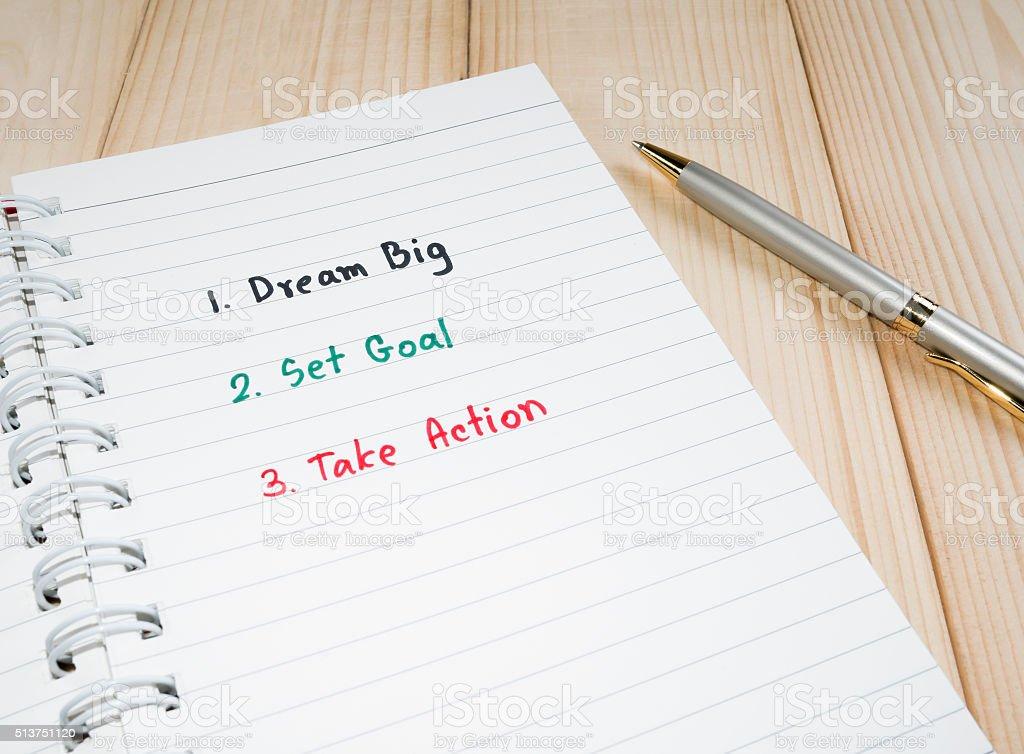 Dream big 6 stock photo