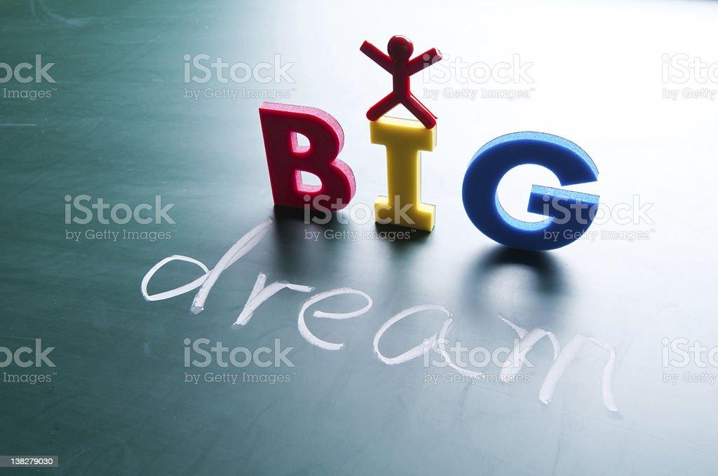 I dream big concept royalty-free stock photo