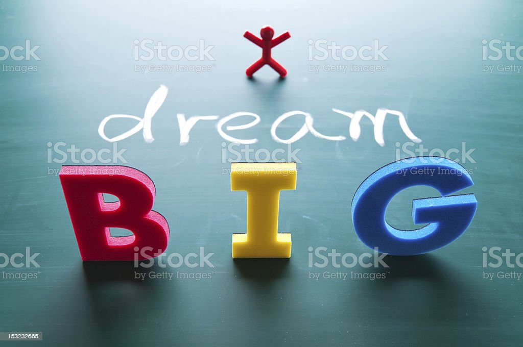 I dream big concept royalty-free stock photo