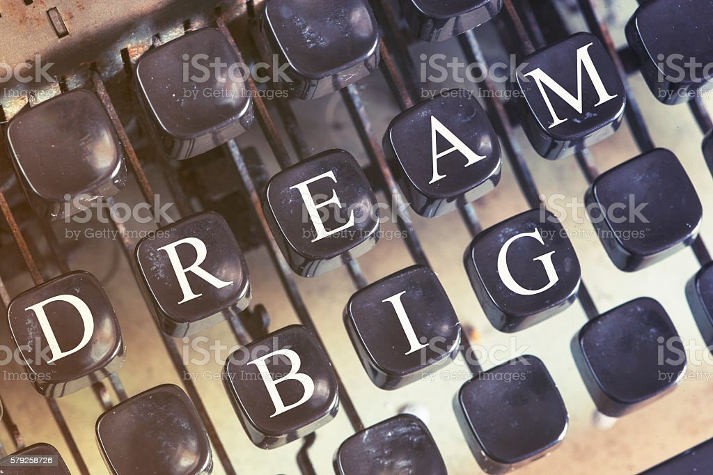 Dream Big message stock photo