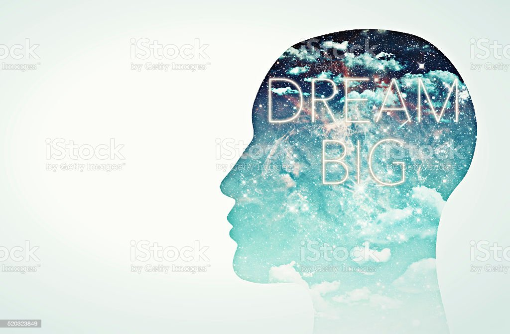 Dream big! stock photo