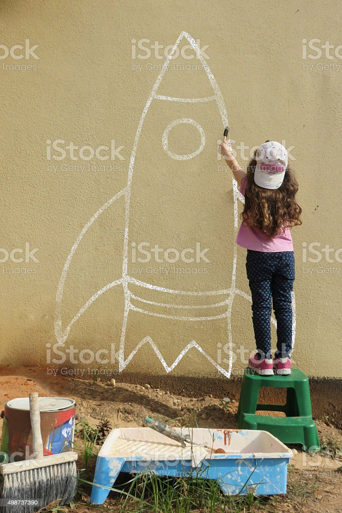 Dream big -shoot for the stars stock photo