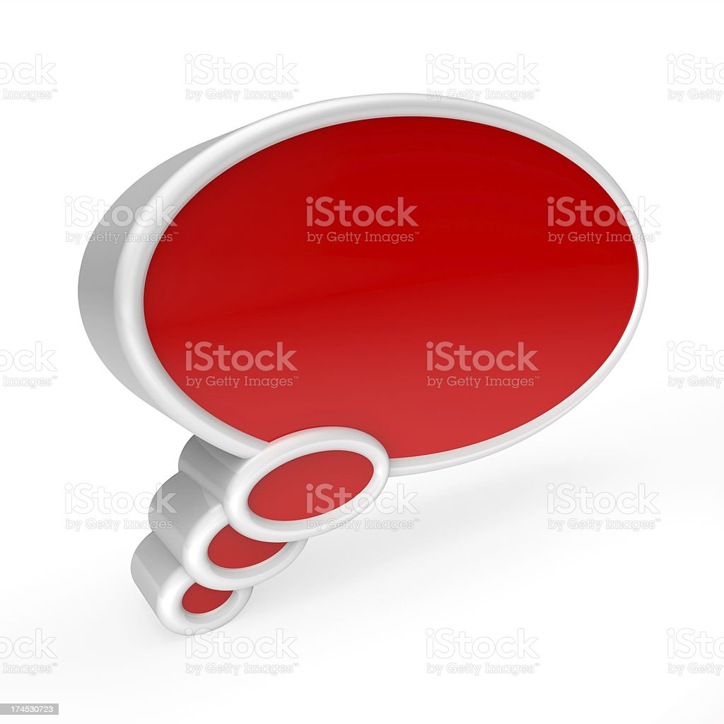 Dream bubble isolated on white with clipping path royalty-free stock photo