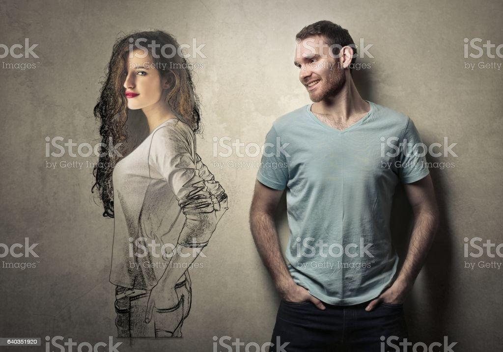 Dream girlfriend stock photo