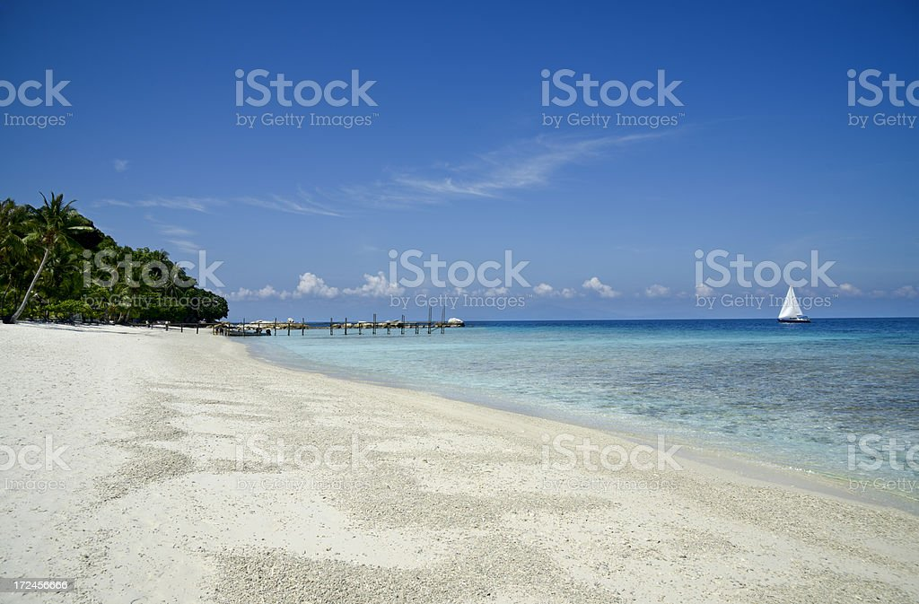 Dream Holiday in Paradise royalty-free stock photo