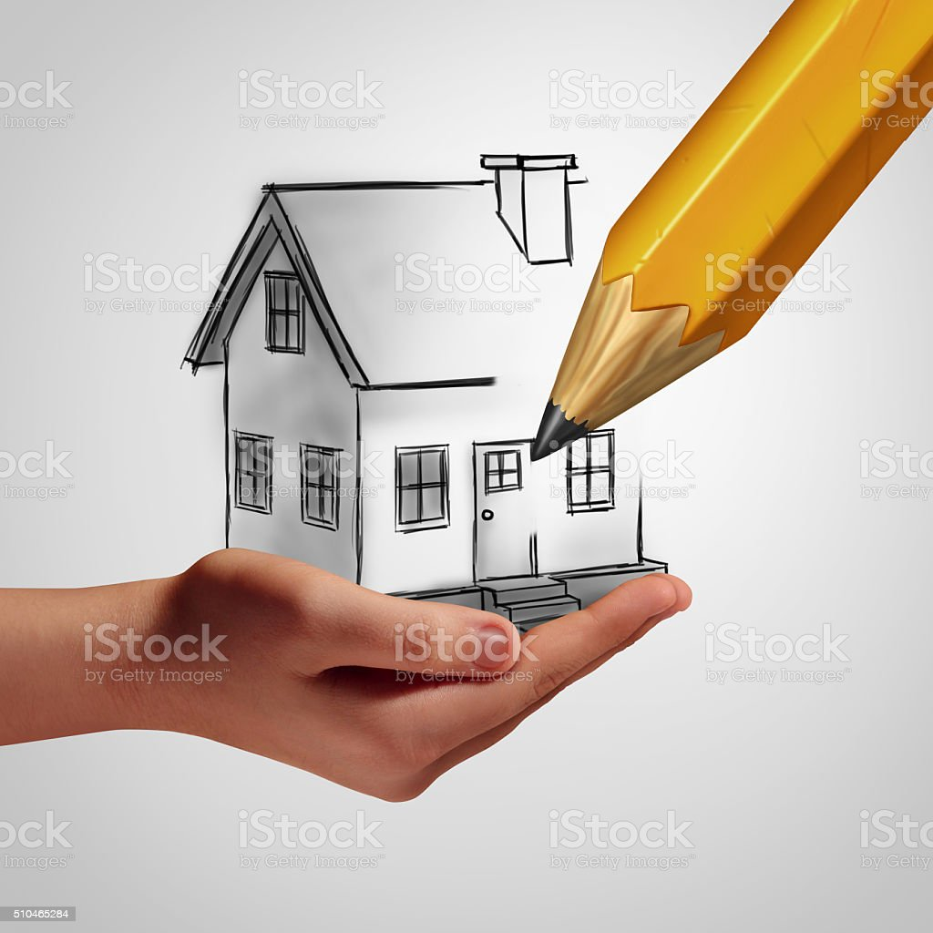 Dream Home Concept stock photo
