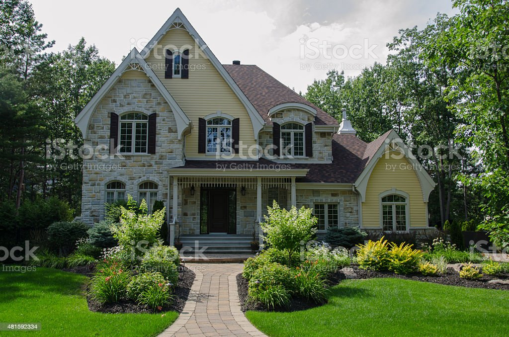 Dream Home, Luxury House, Success stock photo