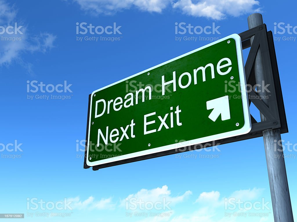 Dream home road sign stock photo