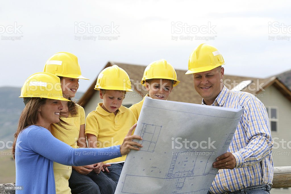 Dream House Blueprint stock photo