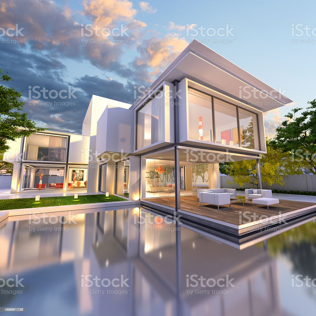 dream house front stock photo