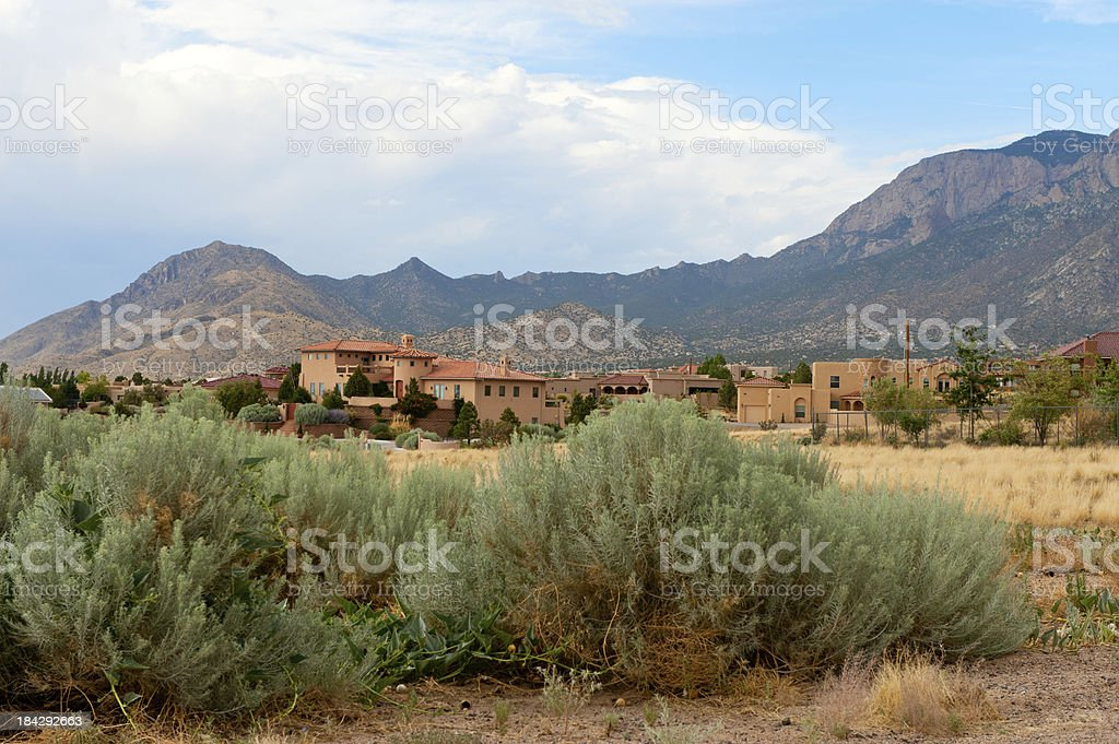 Dream House in Southwest USA royalty-free stock photo