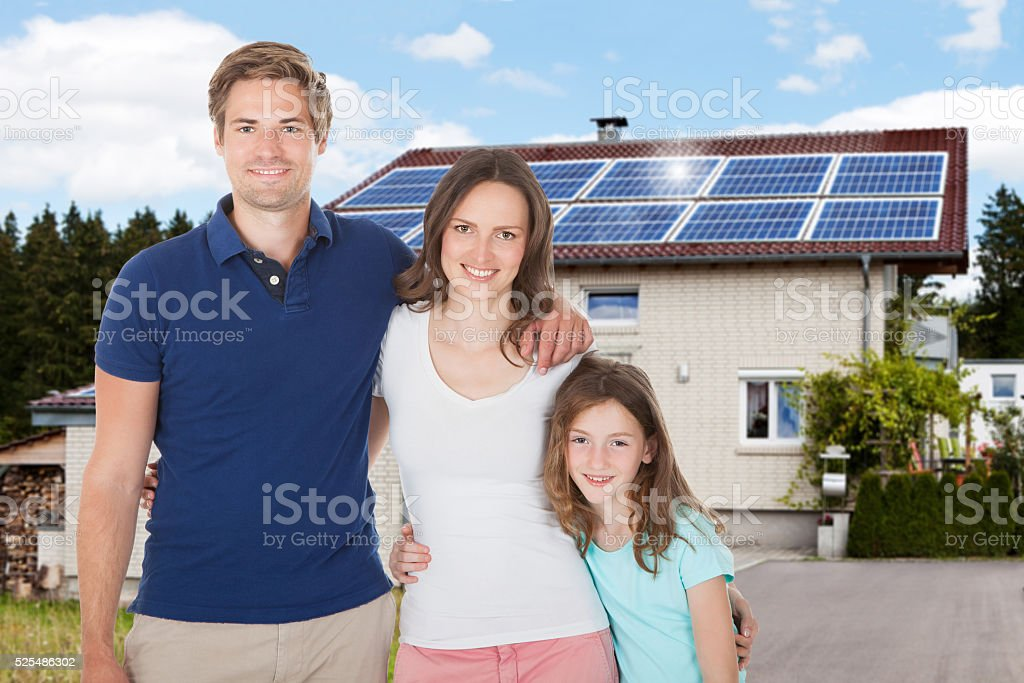 Dream house with car garage stock photo