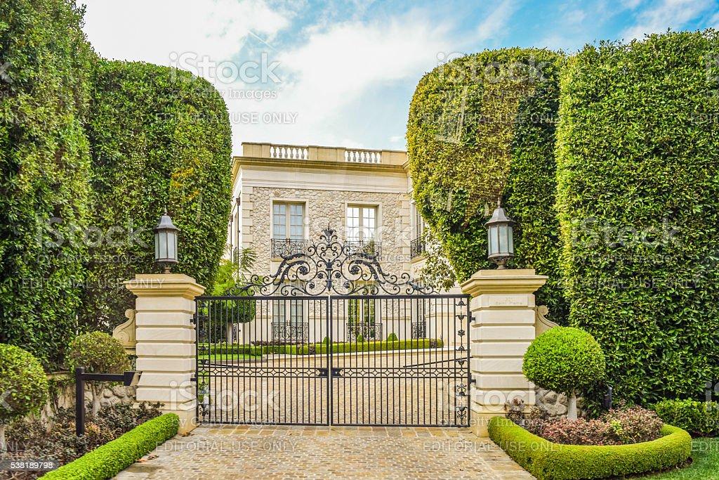 Dream Houses Beverly Hills stock photo
