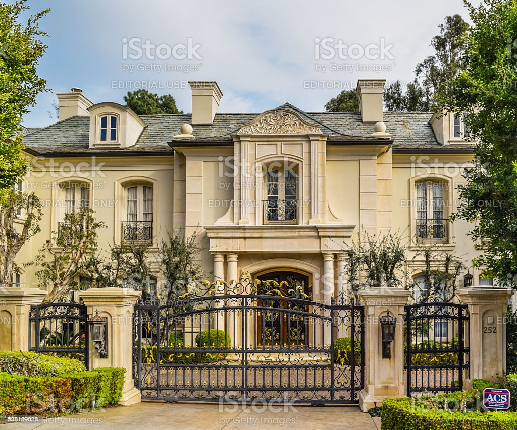 Dream Houses Beverly Hills stock photo