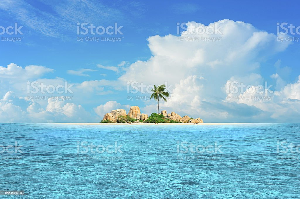 Dream Island stock photo