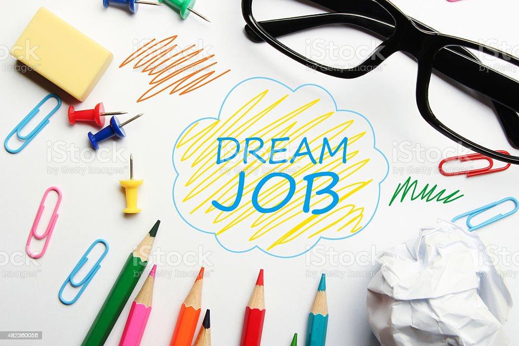 Dream job stock photo