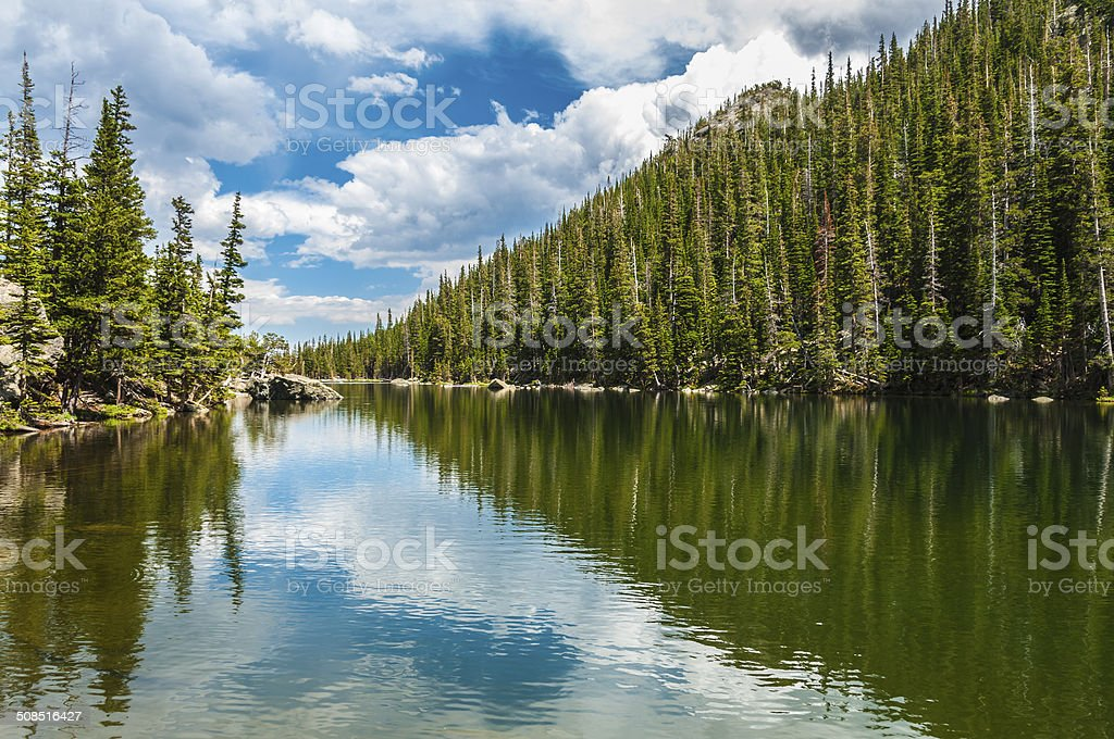 Dream Lake Colorado stock photo