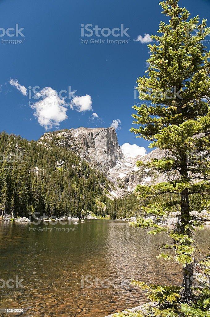 Dream Lake in Rocky Mountain NP, Colorado stock photo
