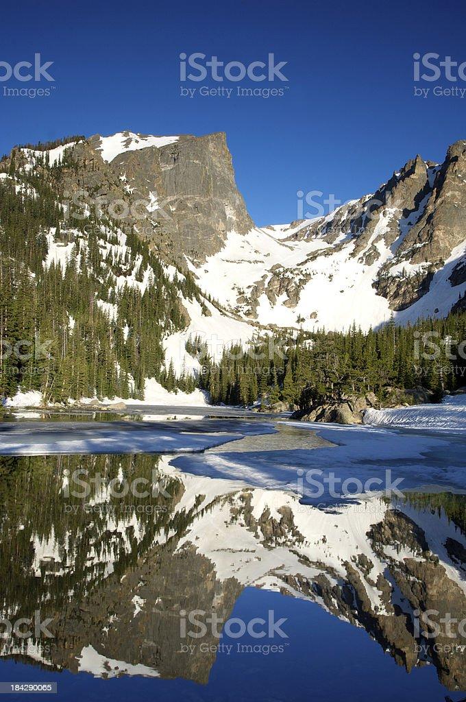Dream Lake Reflections of Hallett Peak royalty-free stock photo