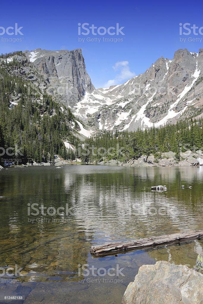 Dream Lake, Rocky Mountains stock photo
