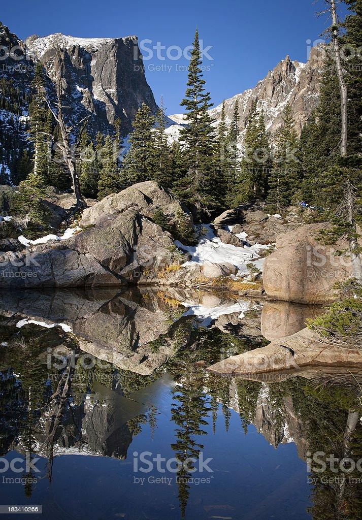 Dream Lake Scenic Reflection stock photo
