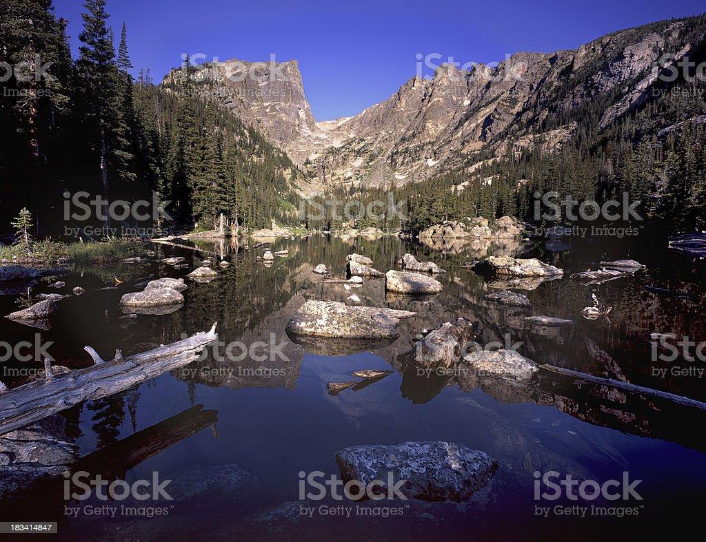 Dream Lake Summer Day stock photo