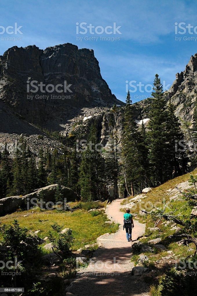 Dream Lake Trail stock photo