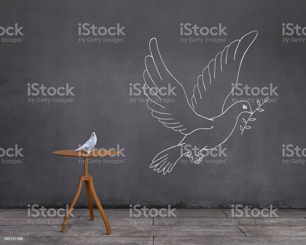 Dream of Dove: Being a Dove of Peace stock photo