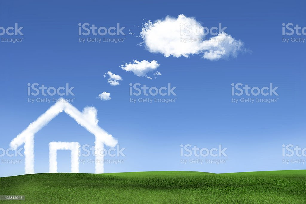 Dream of house stock photo
