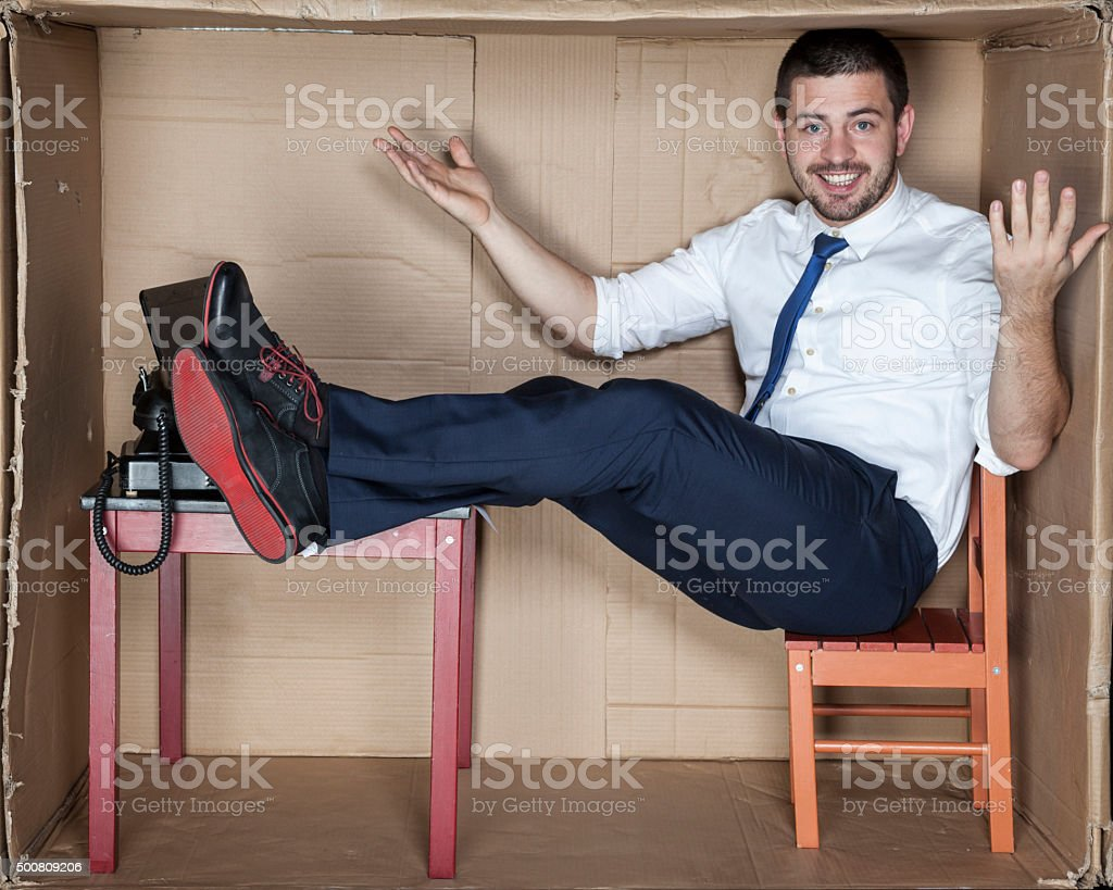 dream office for young businessman stock photo