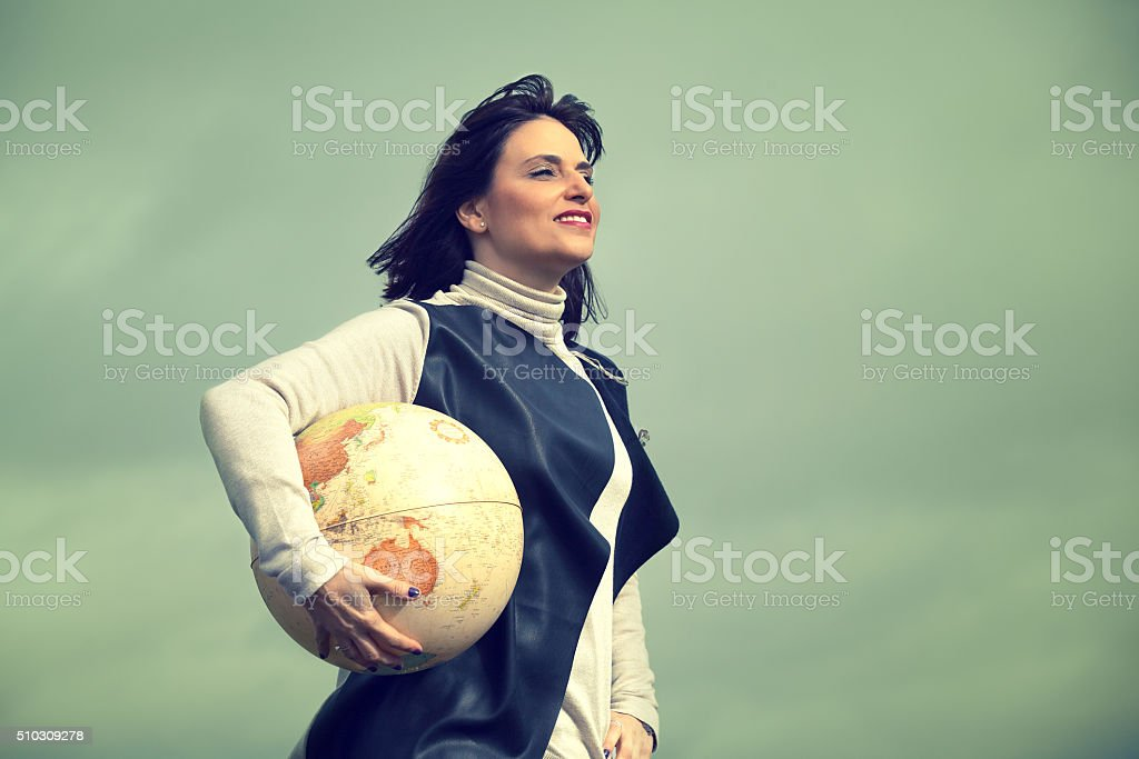 Dream with traveling. stock photo
