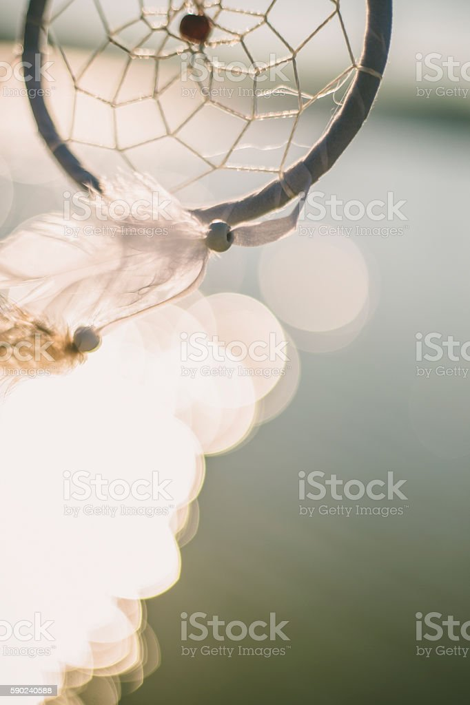 Dreamcatcher waving in the wind stock photo