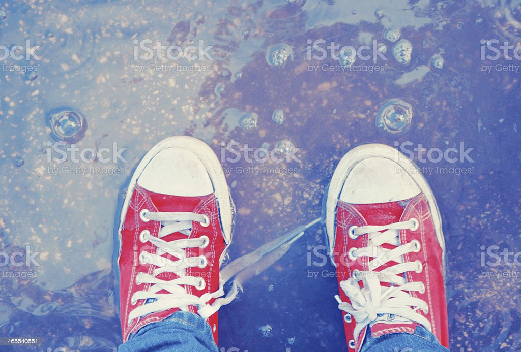 Dreamer's shoes stock photo