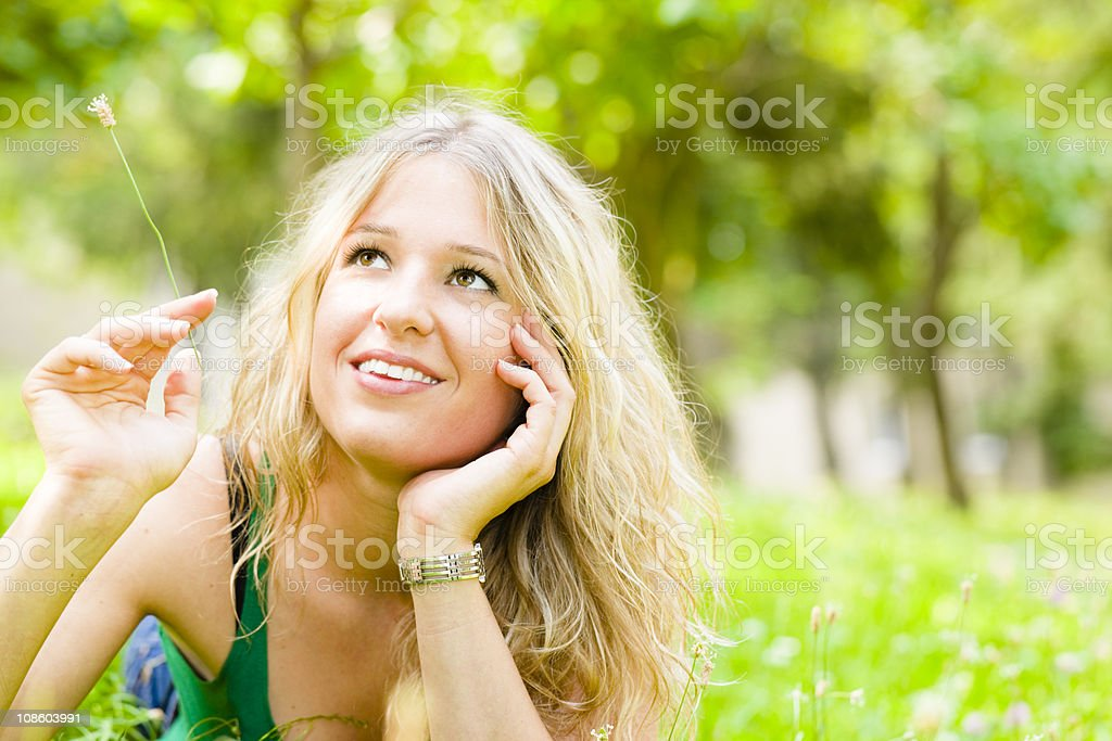 Dreaming about future royalty-free stock photo