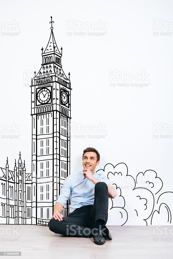 Dreaming about London. stock photo