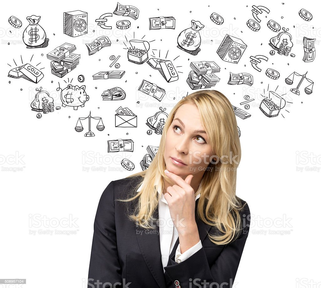 Dreaming about money stock photo