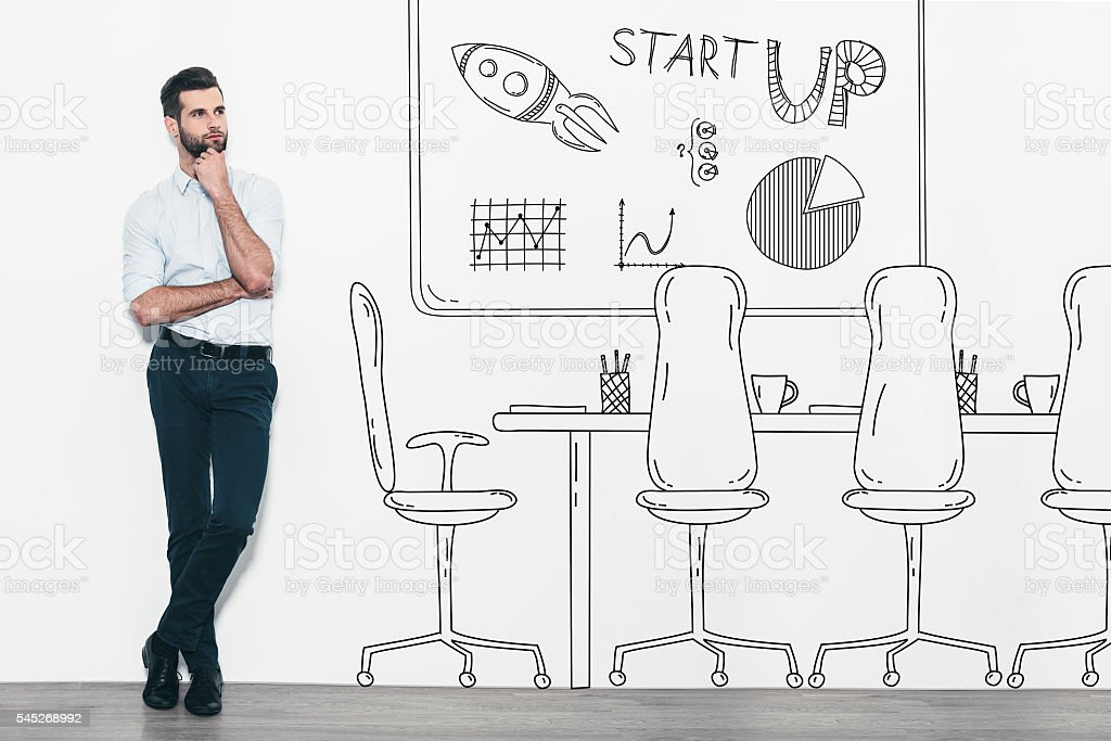 Dreaming about new business. stock photo