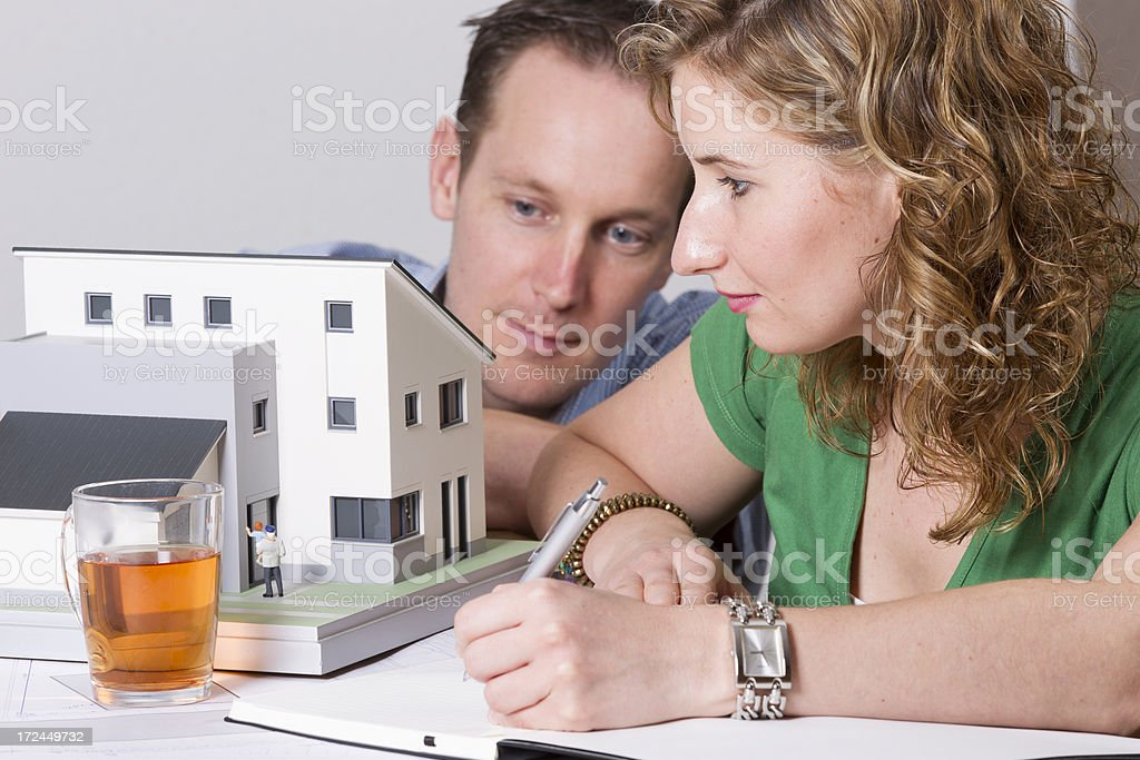 Dreaming about new house royalty-free stock photo