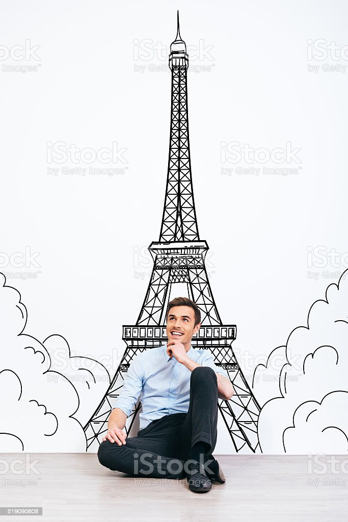 Dreaming about Paris. stock photo