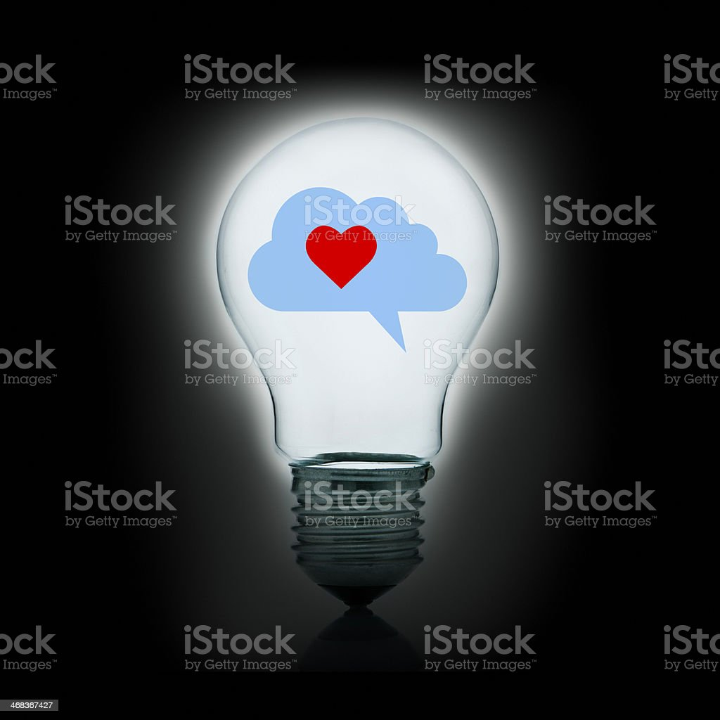 Dreaming about sweet love stock photo