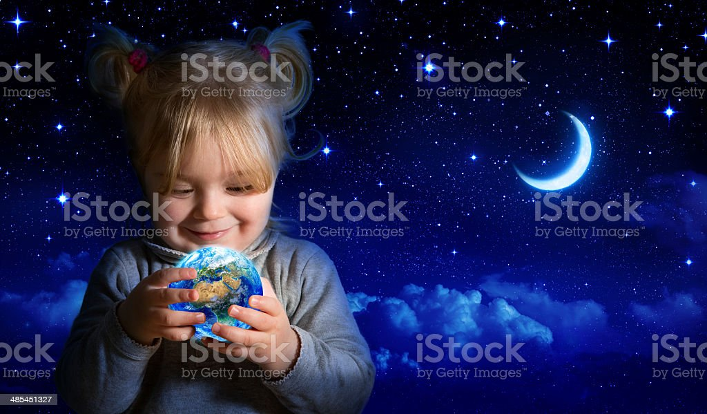 dreaming about the future of our planet stock photo