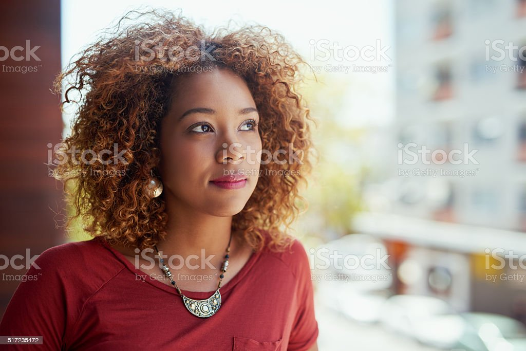 Dreaming after all, is a form of planning stock photo
