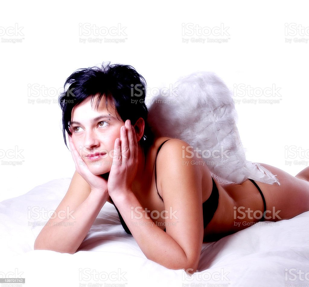 dreaming angel royalty-free stock photo
